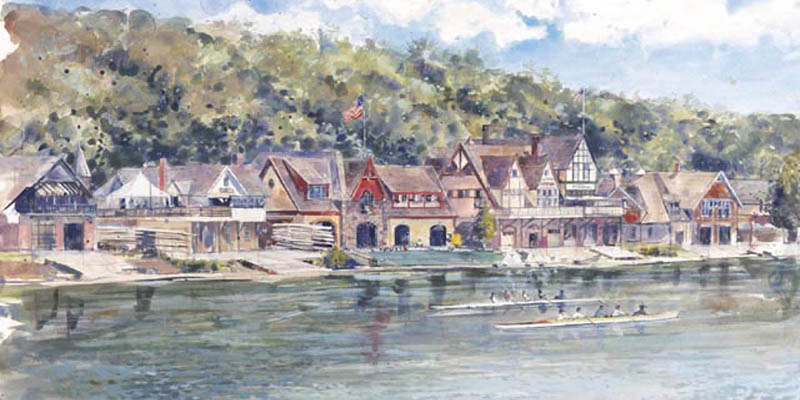 Boat House Row  - Limited Edition - Only 900 numbered and embossed prints
